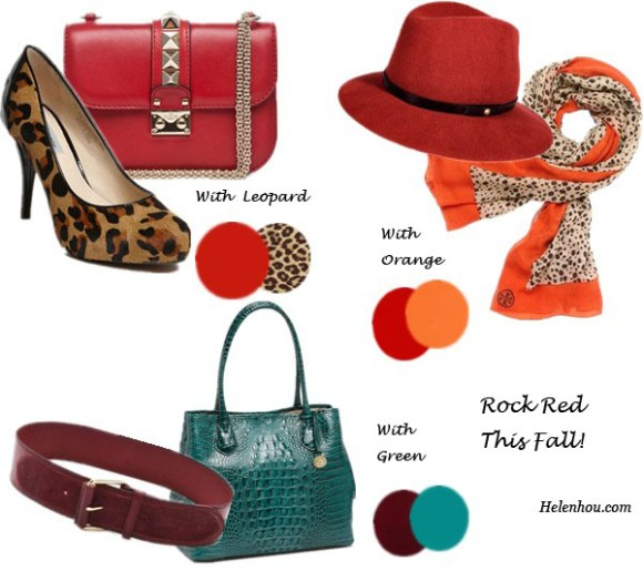 Valentino studded bag,Classiques Entier leopard pump,  Rag & Bone burgundy fedora,Tory Burch orange leopard scarf, Linea Pelle burgundy belt,Brahmin croc-embossed peacock leather bag  what to wear with red bag, what to wear with red fedora,  what to wear with red belt,what to wear with leopard shoes,what to wear with leopard scarf, helenhou, helen hou, the art of accessorizing, accessoriseart, celebrity style, street style, lookbook, model off-duty,red carpet looks,red carpet looks for less, fashion, style, outfits, fashion guru, style guru, fashion stylist, what to wear, fashion expert, blogger, style blog, fashion blog,look of the day, celebrity look,celebrity outfit,designer shoes, designer cloth,designer handbag,