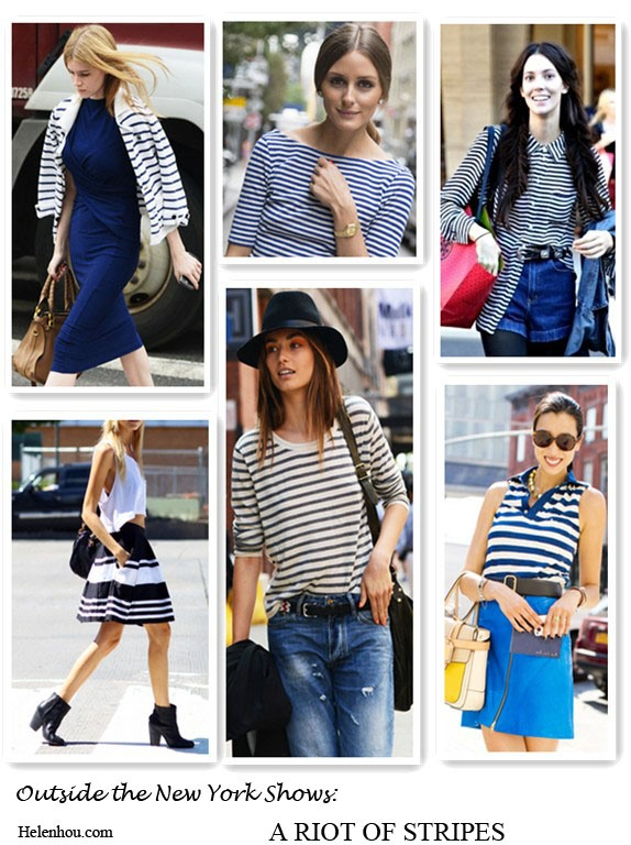 New york fashion week; street style, stripes, olivia palermo, model off duty look, striped top, striped jacket, striped button-up shirt, striped polo shirt, striped skirt, denim shorts, gold watch, blue dress, brown leather bag, white tee shirt, ankle boots, rebecca minkoff bag,  helenhou, helen hou, the art of accessorizing, accessoriseart, celebrity style, street style, lookbook, model off-duty,red carpet looks,red carpet looks for less, fashion, style, outfits, fashion guru, style guru, fashion stylist, what to wear, fashion expert, blogger, style blog, fashion blog,look of the day, celebrity look,celebrity outfit,designer shoes, designer cloth,designer handbag,