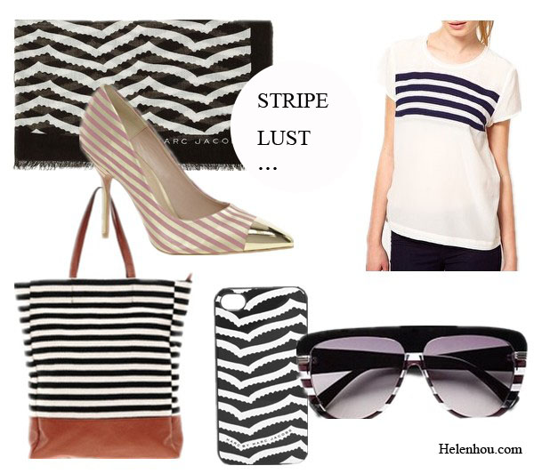 Marc Jacobs Spring 2013 RTW, new york fashion week, sprint 2013 ready to wear collection,striped coat, striped skirt, striped blazer, striped tee shirt, striped dress, black and white,  Marc by Marc Jacobs Zora Stripe Scarf,  ASOS PLUTO Pointed High Heels with Metal Toe Cap,  Kookai Stripe Top, Dior Oversized Stripe Sunglasses, Marc by Marc Jacobs Zora Stripe iPhone Case, Pieces Earla Stripe Shopper ,  helenhou, helen hou, the art of accessorizing, accessoriseart, celebrity style, street style, lookbook, model off-duty,red carpet looks,red carpet looks for less, fashion, style, outfits, fashion guru, style guru, fashion stylist, what to wear, fashion expert, blogger, style blog, fashion blog,look of the day, celebrity look,celebrity outfit,designer shoes, designer cloth,designer handbag,