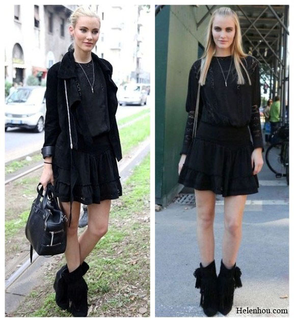 Model Emily Baker off duty look, black ensemble, monochrome look, how to accessories black,ankle boots, black leather bag, suede jacket, lace top,red skinny jeans, embellished jeans, printed jeans, paris fashion week street style, helenhou, helen hou, the art of accessorizing, accessoriseart, celebrity style, street style, lookbook, model off-duty,red carpet looks,red carpet looks for less, fashion, style, outfits, fashion guru, style guru, fashion stylist, what to wear, fashion expert, blogger, style blog, fashion blog,look of the day, celebrity look,celebrity outfit,designer shoes, designer cloth,designer handbag,