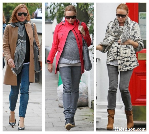 Stella Mccartney, winter coat,pregnancy style, what to wear during pregnancy, red military jacket, grey skinny jeans, ankle booties, leather boots, printed scarf, trendy sunglasses,   helenhou, helen hou, the art of accessorizing, accessoriseart, celebrity style, street style, lookbook, model off-duty,red carpet looks,red carpet looks for less, fashion, style, outfits, fashion guru, style guru, fashion stylist, what to wear, fashion expert, blogger, style blog, fashion blog,look of the day, celebrity look,celebrity outfit,designer shoes, designer cloth,designer handbag,