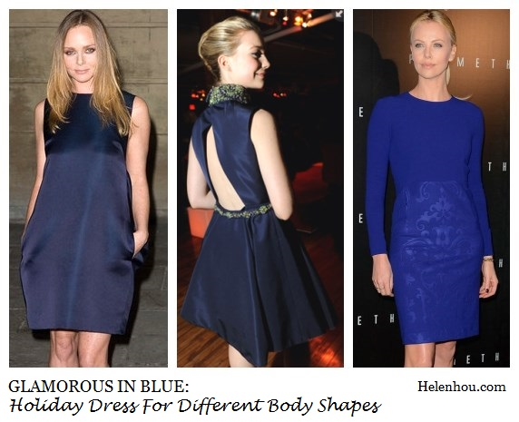 Stella McCartney, Mia Wasikowska, Charlize Theron, hoiday party dress, blue dresses, how to accessorize blue dresses, lace blue dress, embellished blue dress,     helenhou, helen hou, the art of accessorizing, accessoriseart, celebrity style, street style, lookbook, model off-duty,red carpet looks,red carpet looks for less, fashion, style, outfits, fashion guru, style guru, fashion stylist, what to wear, fashion expert, blogger, style blog, fashion blog,look of the day, celebrity look,celebrity outfit,designer shoes, designer cloth,designer handbag,
