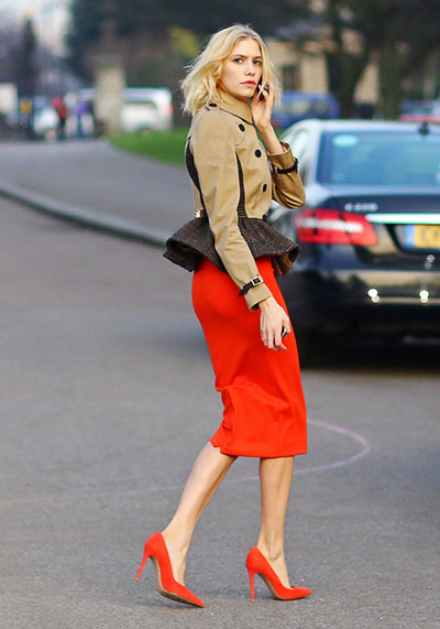 Elena Perminova, London Fashion Week 2013, street style, red pencil skirt, Burberry peplum military jacket, red pointy toe pumps, blue colorblock bag, Analeena bag, Wood sunglasses,Gianvito Rossi shoes,how to wear red pencil skirt,colorblock, helenhou, helen hou, the art of accessorizing, accessoriseart, celebrity style, street style, lookbook, model off-duty,red carpet looks,red carpet looks for less, fashion, style, outfits, fashion guru, style   guru, fashion stylist, what to wear, fashion expert, blogger, style blog, fashion blog,look of   the day, celebrity look,celebrity outfit,designer shoes, designer cloth,designer handbag,