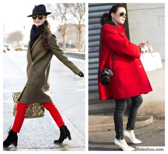 what to wear with red, Peony Lim, fashion blogger, fashion week, street style, Christian Louboutin black finged ankle boots,Zara red skinny jeans,Tibi shirt,Celine camel jacket, Lock & Co fedora,  Garance Doré, red oversized coat, grey skinny jeans, Christian Louboutin spiked pumps, white handbag,    helenhou, helen hou, the art of accessorizing, accessoriseart, celebrity style, street style, lookbook, model off-duty,red carpet looks,red carpet looks for less, fashion, style, outfits, fashion guru, style guru, fashion stylist, what to wear, fashion expert, blogger, style blog, fashion blog,look of the day, celebrity look,celebrity outfit,designer shoes, designer cloth,designer handbag,