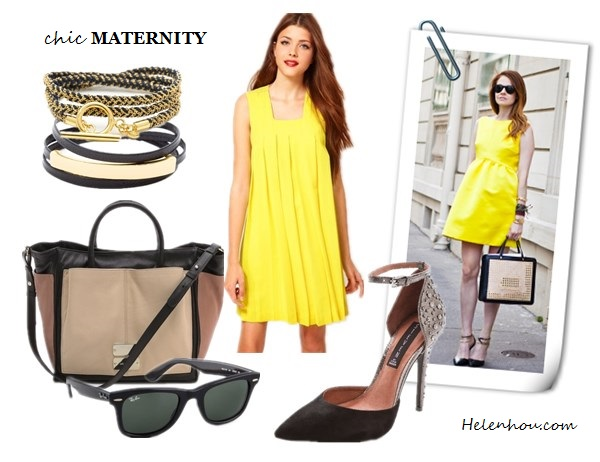 Chic Maternity Style, pregnant outfits, Kate Middleton,Violaine Bernard ,Stephanie LaCava,red Armani coat , Aquatalia knee-high suede boots,lemon Roksanda Ilincic dress,colorblock tote, ankle strap pump, layered bracelet, jeweled brooch,black beanie, black silk strap top, jbrand maternity skinny jeans, black maternity dress, floral print wrap belt,  BA&SHShift Dress with Curved Hem Detail,  See by Chloe Nellie Double Function colorblock Tote ,  Steven Triummp Ankle Strap Pumps,  Ray-Ban Original Unisex Wayfarer Sunglasses,  Gorjana & Griffin Kingston Wrap Bracelet,Gorjana & Griffin Graham  Leather Bar Triple Wrap ,  helenhou, helen hou, the art of accessorizing, accessoriseart, celebrity style, street style, lookbook, model off-duty,red carpet looks,red carpet looks for less, fashion, style, outfits, fashion guru, style guru, fashion stylist, what to wear, fashion expert, blogger, style blog, fashion blog,look of the day, celebrity look,celebrity outfit,designer shoes, designer cloth,designer handbag,