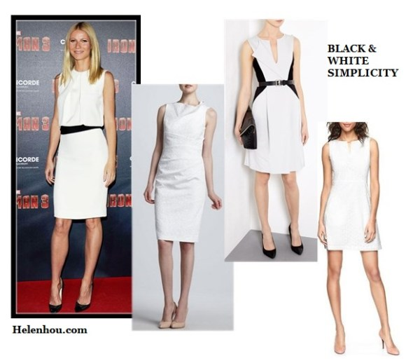 how to wear black and white, black and white for every age, Alessandra Ambrosio,Rihanna,Gwyneth Paltrow, white dress, black belt , black pump, white blazer, AA.L.C. top, cuffed white blazer ,black and gold sandals,IRO Color-block crepe jumpsuit, studded clutch, christian louboutin black pump, Rag & Bone white blazer, white shorts,diamond jewels,cap-toe sneakers, David Meister David Meister Sleeveless Asymmetric-Neck white Sheath Dress,  Sportmax Faretra Belted black and white Dress by Sportmax,  Gap Eyelet Split Neck white Dress,  helenhou, helen hou, the art of accessorizing, accessoriseart, celebrity style, street style, lookbook, model off-duty,red carpet looks,red carpet looks for less, fashion, style, outfits, fashion guru, style guru, fashion stylist, what to wear, fashion expert, blogger, style blog, fashion blog,look of the day, celebrity look,celebrity outfit,designer shoes, designer cloth,designer handbag,