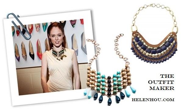 statement necklace transforms an outfit Alternative: DANNIJO Medine Bib Necklace,   Stella & Dot Indira Necklace,