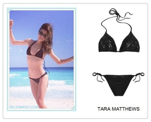 2013 swimwear trend; hottest swimsuit; Featured: Tara Matthews Sequin-embellished triangle bikini