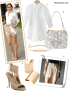 summer work outfit ideas; how to wear white; how to wear cut out shoes; how to wear bermuda  shorts; Olivia Palermo, white shirt/blouse; beige/khaki shorts, cut out heel sandal, white trench coat, python/snakeskin bag, white colorblock bag, black top, tibi, strappy sandal, Jimmy Choo, street style, spring/summer,   On Olivia Palermo: Aquazzura Sexy Thing Suede Cutout Sandal, Nude,Olivia and Joy Olivia + Joy Handbag, Regards Small Shoulder Bag. Alternative:  1. Acne teven alanworthy button front tunic,  2. Olivia + Joy Handbag, Regards Small Shoulder Bag ,  3. B-Low The Belt gold Alpha Belt,  4. GIORGIO ARMANIhigh waist bermuda shorts in cupro with pockets,  5. Charles Albert Alchemia Shine gold Cuff,  6. aquazzura cut out suede heel sandal,