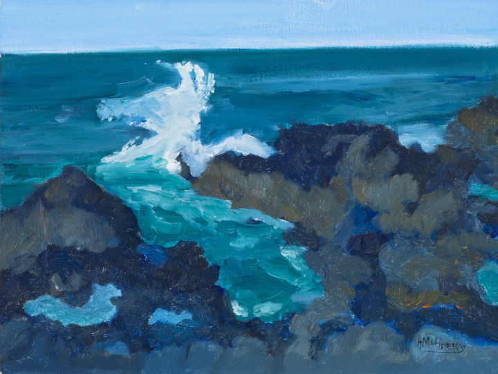 Ocean Blue 24X30, oil on panel, Painter Helen Matthews