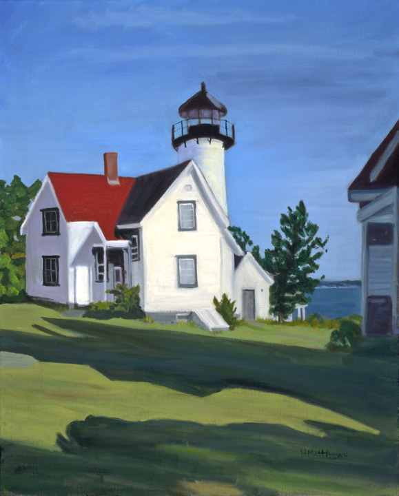 West Chop Lighthouse, Painter Helen Matthews