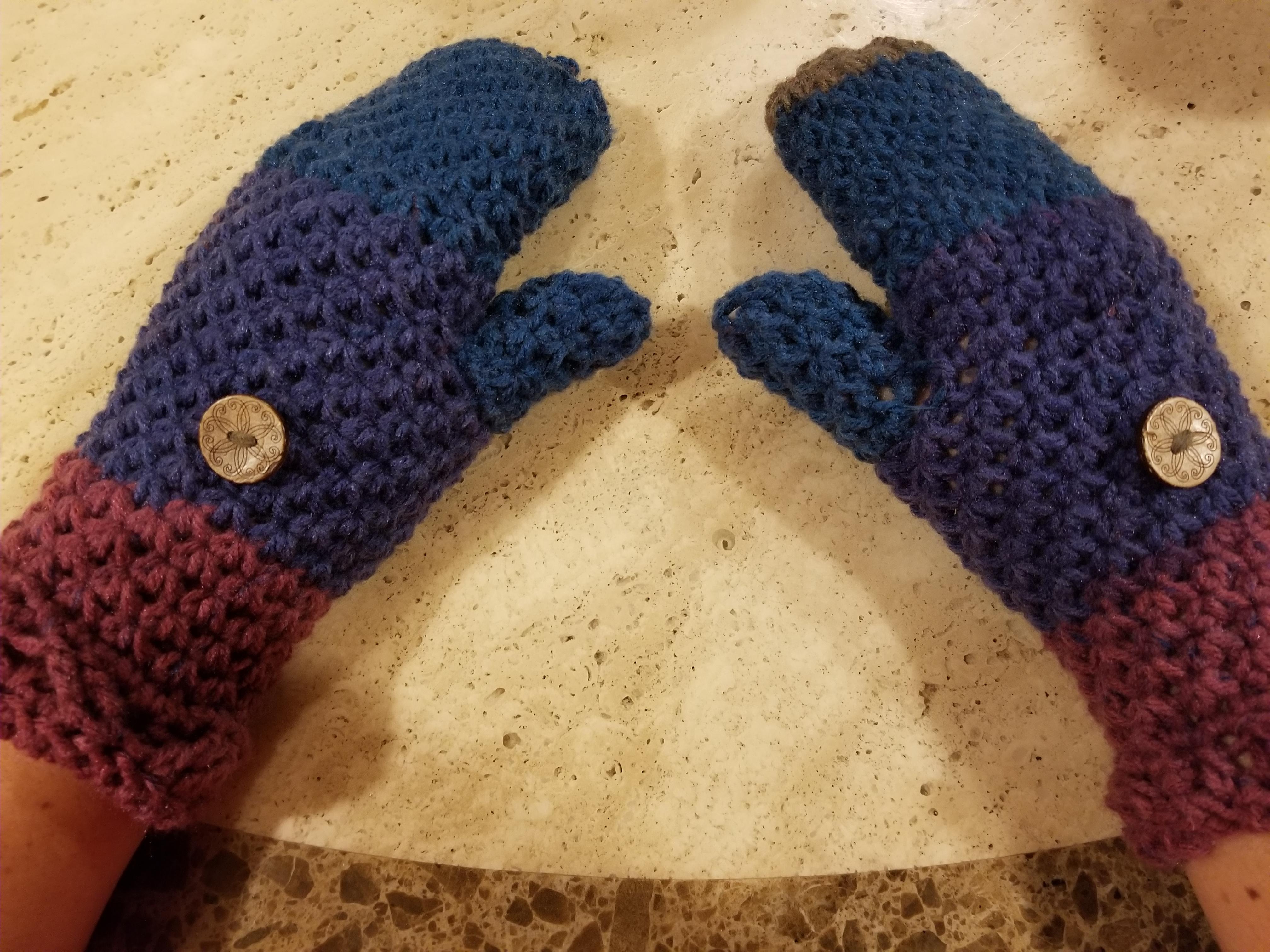 Crochet Heavenly Blessing Matching Set Scarf Fingerless