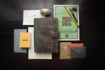The Library Collection Hand made leather notebook cover