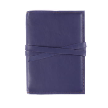 A5 Discovery Indigo Tie leather cover