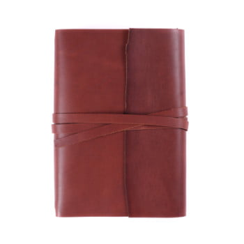 A5 Discovery Wrap Cognac Tie leather cover