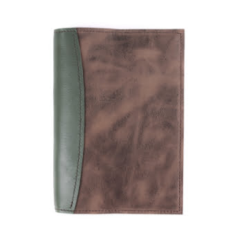 A5 The Library Moss Antique Brown leather cover
