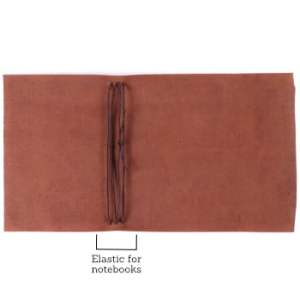 A6 Wrap – Tie Closure in Cognac Leather Cover