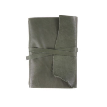 B6 Discovery Wrap Moss Tie leather cover