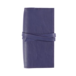 Slim Classic – Tie Closure in Indigo Leather Cover