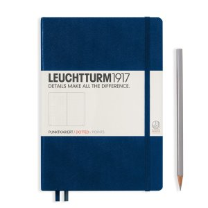 Leuchtturm1917 Dot Grid A5 Notebook – Navy