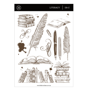 Literacy – Clear Sticker Sheet