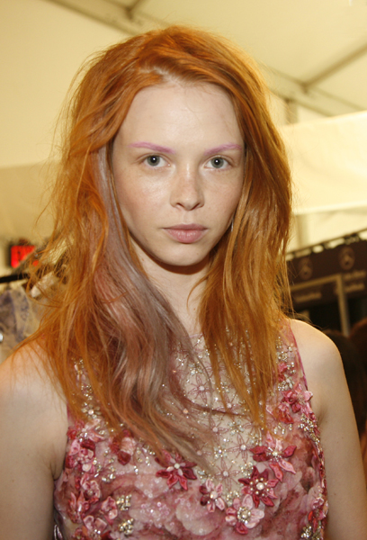 Pink Brows, Red Hair @ Badgley Mischka – 2015