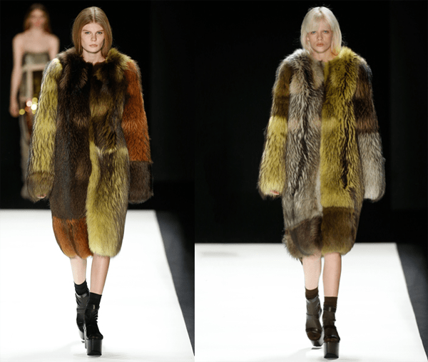 Vera Wang's Multicolored Fur Coats – 2016