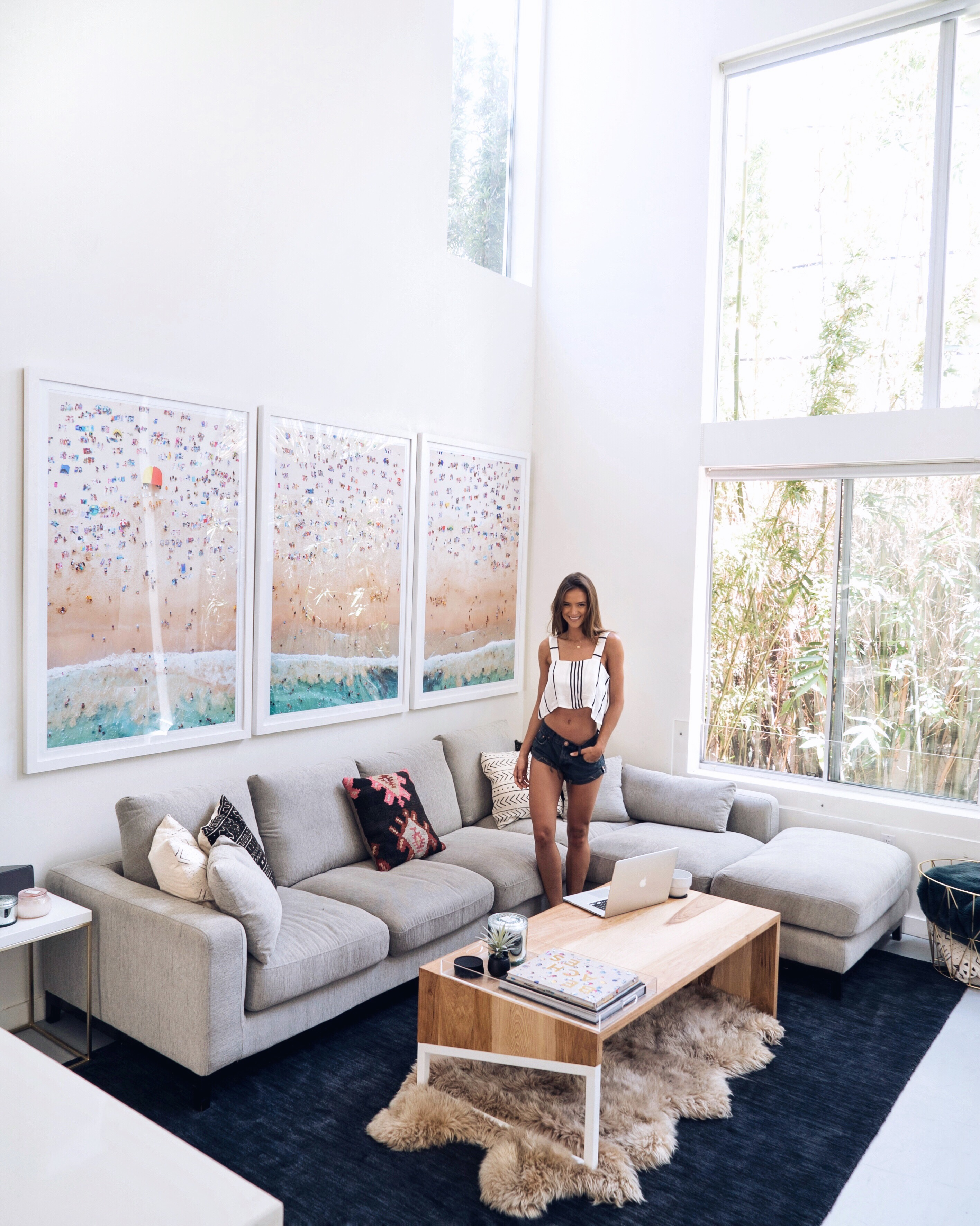 I Finally Have Some Artwork That Fills Up The Massive Wall In Our Living  Room! Iu0027m SO EXCITED To Share How Far Iu0027ve Come With Furnishing And  Decorating Our ...