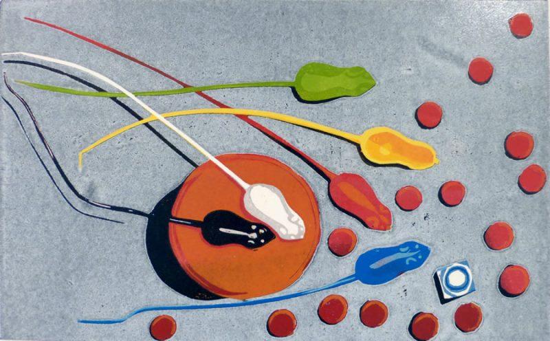 Mousie Mousie – 14 Colour Reduction Linocut