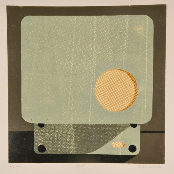 Record Player Back – 9 Colour Reduction Linocut