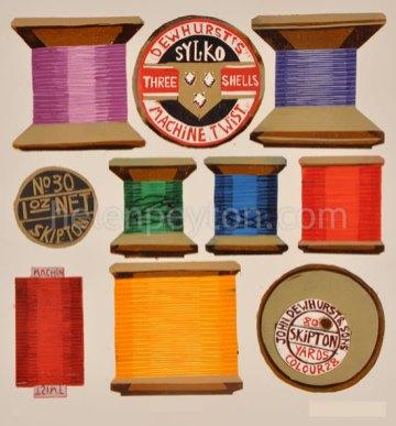 36 colour reduction linocut