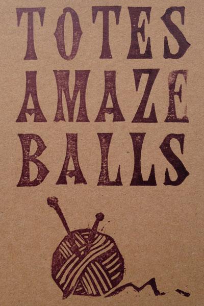 Letterpress Card – Yarndale Totes Amaze Balls