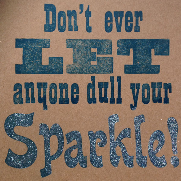Letterpress Card – Sparkle