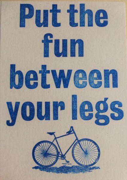 Letterpress Card – Fun Between Your Legs
