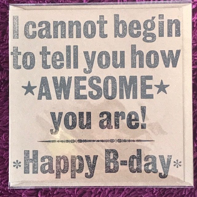 Letterpress Card – Awesome Birthday