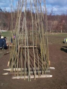 Pointy sticks in the ground!