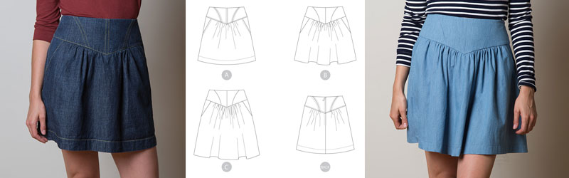 Crescent Skirt by Sewaholic