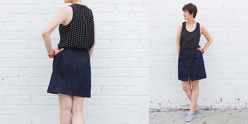 Sew DIY Nita Wrap Skirt