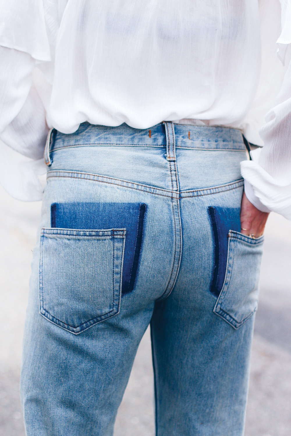 DIY Drop Pocket Jeans