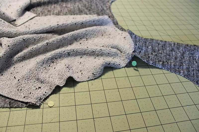 Sewing a sleeve in flat