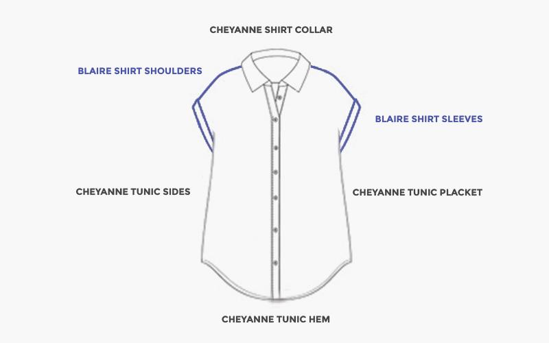 Pattern Mashup: White Linen Button Up – Helen\'s Closet