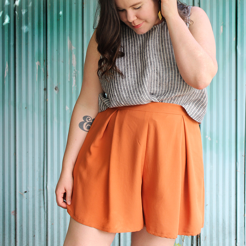 Winslow Culottes Orange Shorts