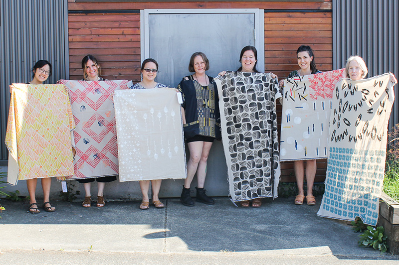 Blackbird Fabrics Block Printing Workshop