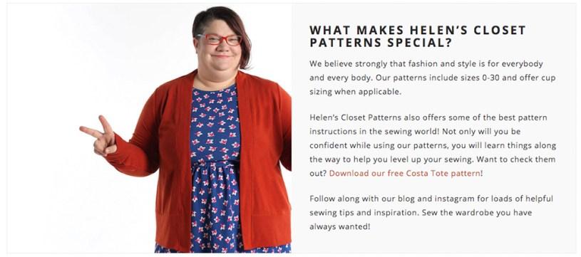 Helen's Closet Patterns
