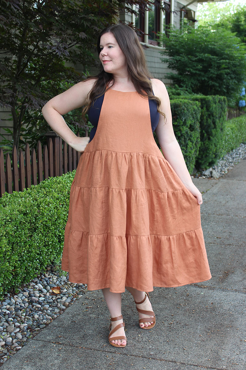 York Pinafore Tiered Skirt