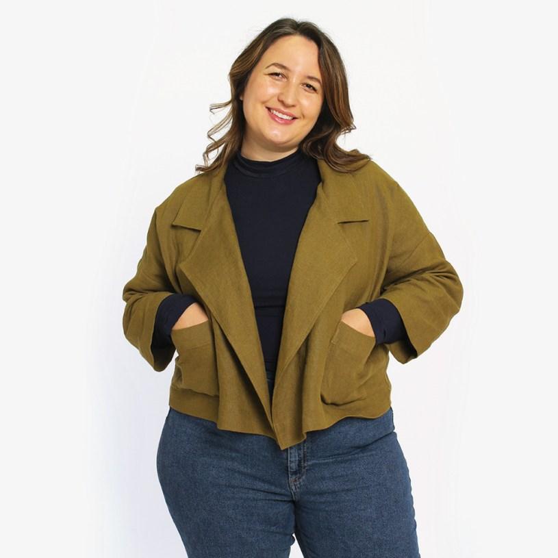 Pona Jacket Sewing Pattern by Helen's Closet Patterns