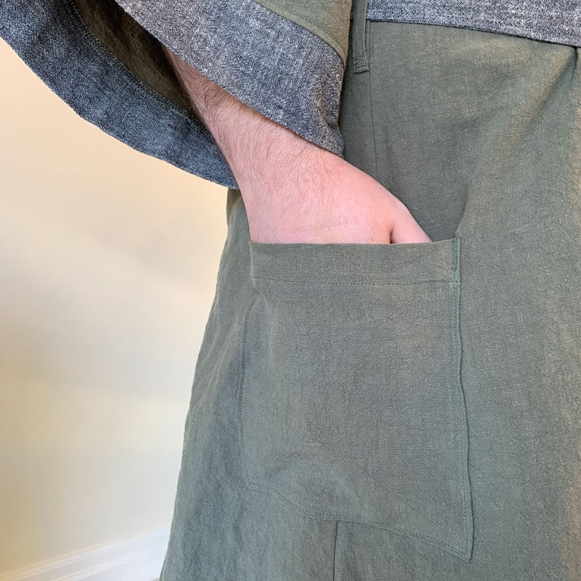 Suki Robe patch pockets