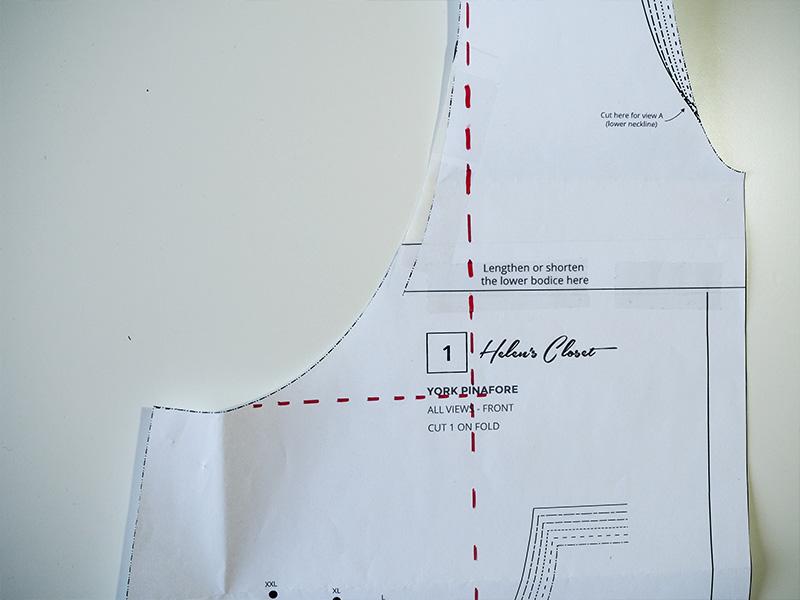 Nautical York Pinafore Hack in Denim by Saki Jane