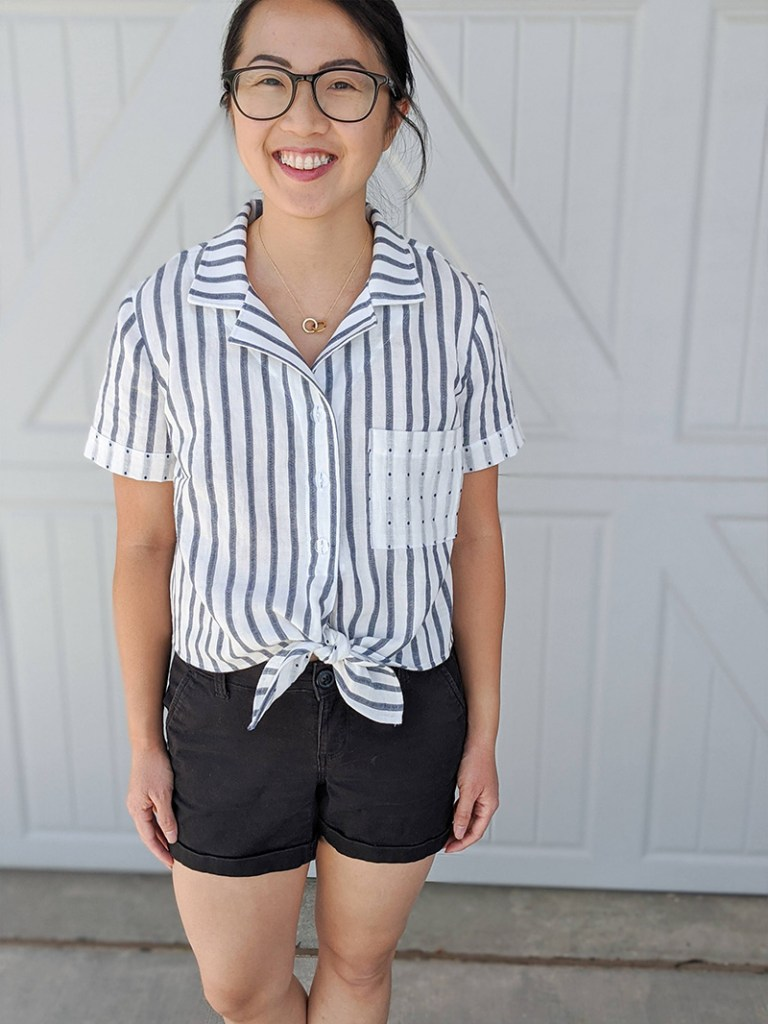 Simone's Striped Gilbert Top
