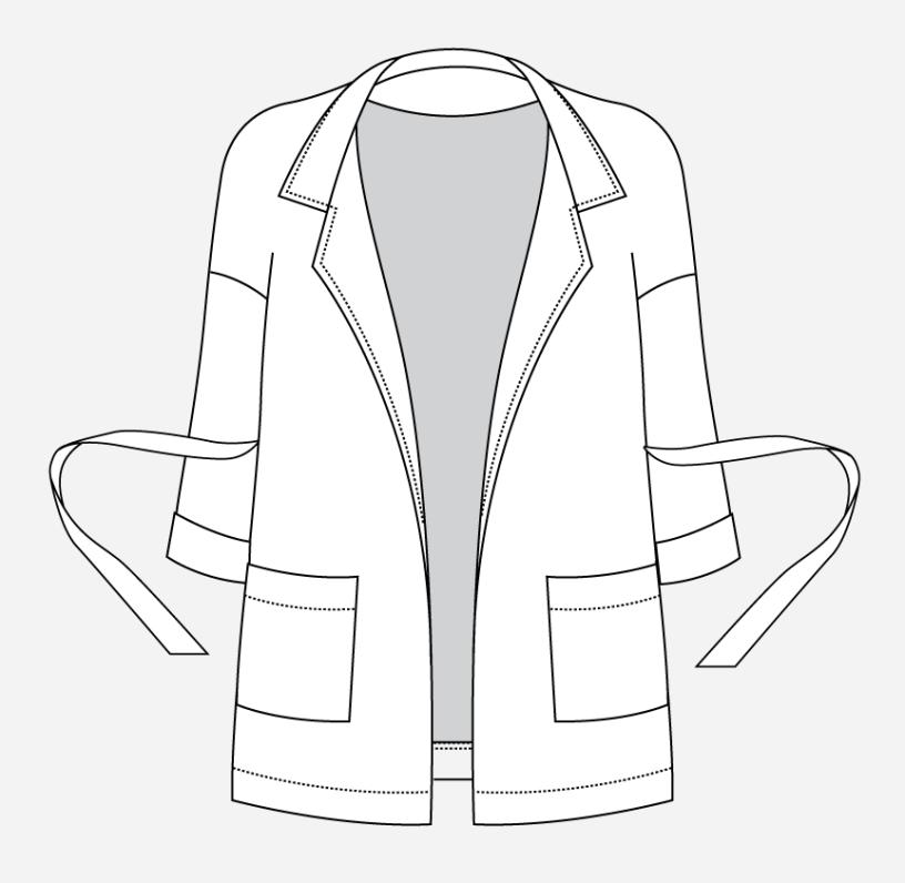 Pona Jacket with Waist Tie